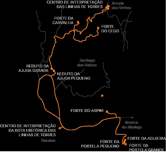 mapa grandes desfiladeiros